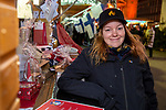 BRUSSELS - BELGIUM -11 December 2018 -- Christmas market in Brussels features a specialty: the Finnish Village supported by the Regional Council of Kainuu. -- Sara Ruusu carries the responsibility that all runs smoothly in the Finnish Village. -- PHOTO: Juha ROININEN / EUP-IMAGES