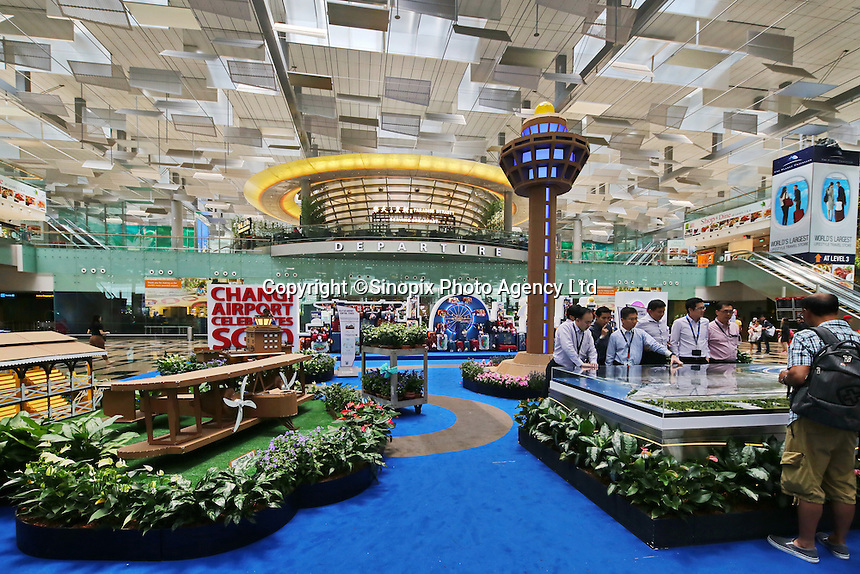 Shops, restaurants, cinema at Changi airport, Terminal 3, Singapore, 13 August 2015.