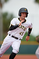 GCL Pirates right fielder Jack Herman (49) runs the bases during the second game of a doubleheader against the GCL Yankees East on July 31, 2018 at Pirate City Complex in Bradenton, Florida.  GCL Pirates defeated GCL Yankees East 12-4.  (Mike Janes/Four Seam Images)