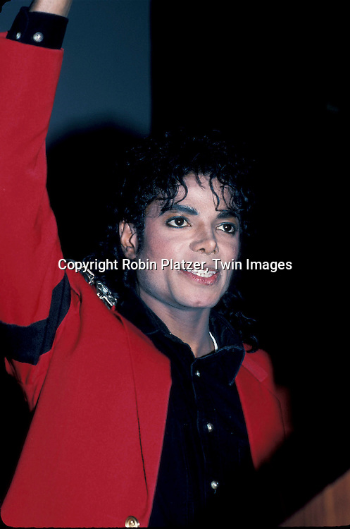 Michael Jackson at UNCF Dinner honoring him on March 10, 1988