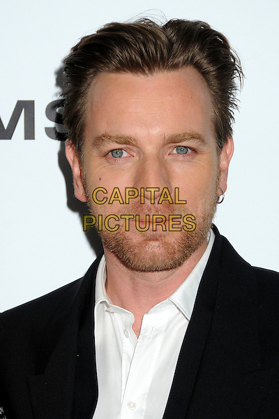 Ewan McGregor.CBS Films' U.S. Premiere of 'Salmon Fishing In The Yemen' held at The Directors Guild of America in West Hollywood, California, USA..March 5th, 2012.headshot portrait stubble facial hair earring white black .CAP/ADM/BP.©Byron Purvis/AdMedia/Capital Pictures.