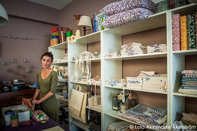 Traditional textile makers in Cesenatico, Italy