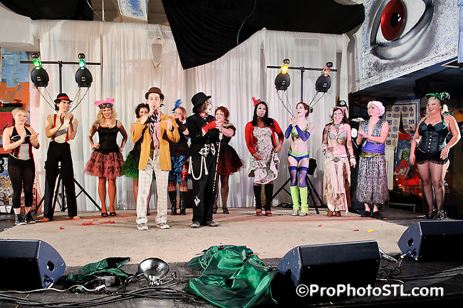 "Lola Van Ella & Sammich The Tramp present BEGGAR'S CARNIVALE ""A Three Penny Circus"" featuring Jason Webley at 2720 Cherokee in St. Louis, MO on Nov 19, 2010."