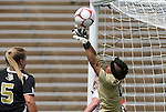 28 August 2009: Central Florida's Lynzee Lee makes a save. The Duke University Blue Devils lost 3-2 to the University of Central Florida Knights at Fetzer Field in Chapel Hill, North Carolina in an NCAA Division I Women's college soccer game.