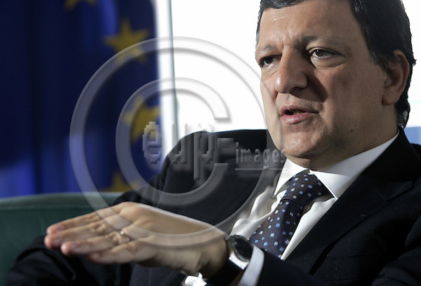 STRASBOURG - FRANCE - 05 JULY 2006 -- Jose Manuel BARROSO, the President of the EU-Commission during an interview. --PHOTO: JUHA ROININEN / EUP-IMAGES.