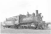 3/4 engineer's-side view of D&amp;RGW #361 in Gunnison, CO.<br /> D&amp;RGW  Gunnison, CO  Taken by Richardson, Robert W. - 9/17/1946