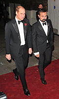 HRH Prince Williams Duke of Cambridge and Evgeny Lebedev at the London Evening Standard Theatre Awards 2016, The Old Vic, The Cut, London, England, UK, on Sunday 13 November 2016. <br /> CAP/CAN<br /> &copy;CAN/Capital Pictures /MediaPunch ***NORTH AND SOUTH AMERICAS ONLY***