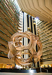 California, San Francisco: Large atrium lobby of the Hyatt Regency Hotel.Photo #: 10-casanf83847.Photo © Lee Foster 2008