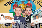 RECYCLING FUN: Children from West Limerick  enjoying the Petits Picassos Junk Art Sunner Camp in Abbeyfeale on Thursday last.. L/r. Ronan Sweeney (Abbeyfeale) and Gavin O'Reilly (Tournafulla)..