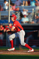 Williamsport Crosscutters center fielder David Martinelli (31) at bat during a game against the Auburn Doubledays on June 25, 2016 at Falcon Park in Auburn, New York.  Auburn defeated Williamsport 5-4.  (Mike Janes/Four Seam Images)
