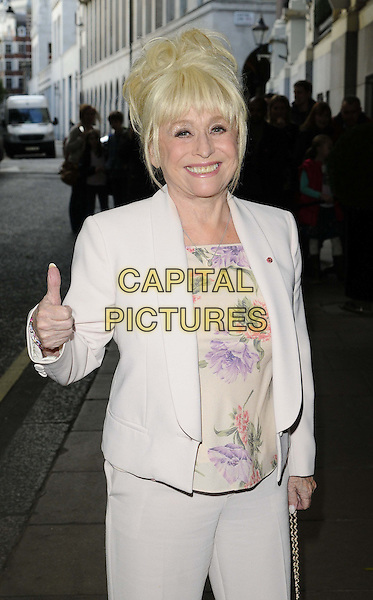 LONDON, ENGLAND - OCTOBER 27: Barbara Windsor attends the BBC Children in Need Gala Lunch, The Savoy Hotel, The Strand, on Sunday October 27, 2013 in London, England, UK.<br /> CAP/CAN<br /> &copy;Can Nguyen/Capital Pictures