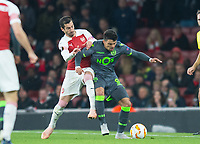 Sporting Marcos Acuna during the UEFA Europa League match between Arsenal and Sporting Clube de Portugal at the Emirates Stadium, London, England on 8 November 2018. Photo by Andrew Aleksiejczuk / PRiME Media Images.