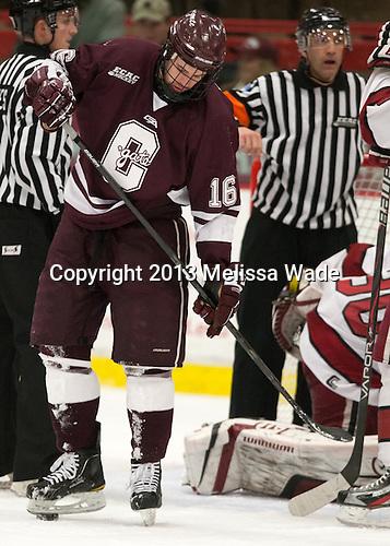 Kurtis Bartliff (Colgate - 16) - The Harvard University Crimson defeated the Colgate University Raiders 4-1 (EN) on Friday, February 15, 2013, at the Bright Hockey Center in Cambridge, Massachusetts.