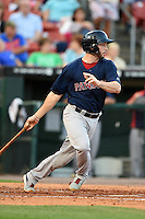 Pawtucket Red Sox catcher Blake Swihart (2) at bat during a game against the Buffalo Bisons on August 23, 2014 at Coca-Cola Field in Buffalo, New  York.  Buffalo defeated Pawtucket 15-2.  (Mike Janes/Four Seam Images)