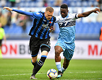 Josip Ilicic of Atalanta and Bastos of Lazio compete for the ball <br /> Roma 5-5-2019 Stadio Olimpico Football Serie A 2018/2019 SS Lazio - Atalanta <br /> Foto Andrea Staccioli / Insidefoto