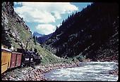 &quot;276-16 The &quot;Silverton&quot; along beautiful Animas Canyon&quot;<br /> D&amp;RGW  Animas Canyon, CO  Taken by Owen, Mac - 6/1975