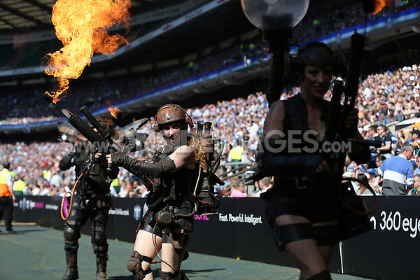 A general view of the Rustang Sally pre-match show. The Clash, Aviva Premiership match, between Bath Rugby and Leicester Tigers on April 8, 2017 at Twickenham Stadium in London, England. Photo by: Rogan Thomson / JMP for Onside Images
