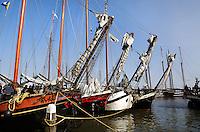 Historische schepen in de haven van Volendam