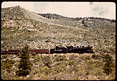 Train hauling gondolas of crushed rock - Monarch.<br /> D&amp;RGW  Monarch Branch, CO
