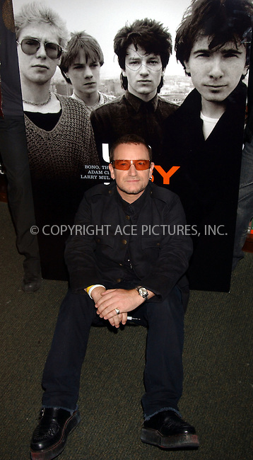 WWW.ACEPIXS.COM . . . . . ....NEW YORK, SEPTEMBER 26, 2006....U2 at Barnes and Noble at Union Square promoting their new book ''U2 by U2''.....Please byline: KRISTIN CALLAHAN - ACEPIXS.COM.. . . . . . ..Ace Pictures, Inc:  ..(212) 243-8787 or (646) 679 0430..e-mail: picturedesk@acepixs.com..web: http://www.acepixs.com