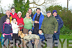 Ballymac Julie winning dog of the All Bitch Stake, Denis K Horgan Memorial Cup on Sunday at the Abbeydorney Coursing. Accepting the Denis K Horgan Cup from Brid Keane was Liam Dowling also in pic were trainers and owners of Ballymac Julie. Michelle and Rachel McCarthy, Stephen Reidy, Mike Reidy (trainer), Eamon Dowling, Sean, Evan, Jane and Declan Dowling and Ger O'Connor. ............. ..............................   Copyright Kerry's Eye 2008