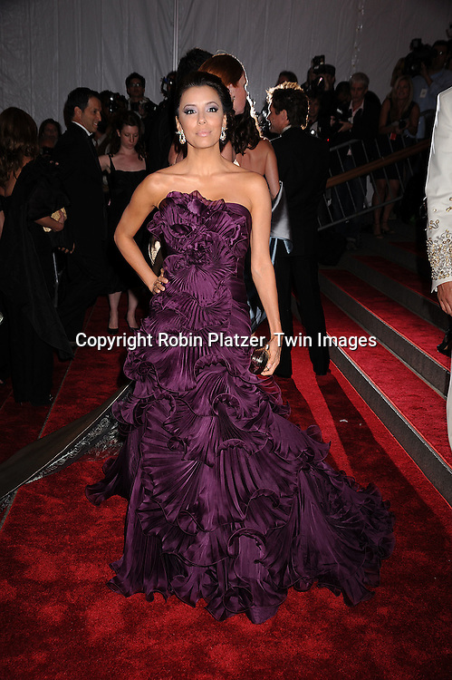 "Eva Longoria Parker.arriving at The Costume Institute Gala of The Metropolitan Museum of Art on May 5, 2008. The costume exhibit was .""Superheroies: Fashion and Fantasy...Robin Platzer, Twin Images"