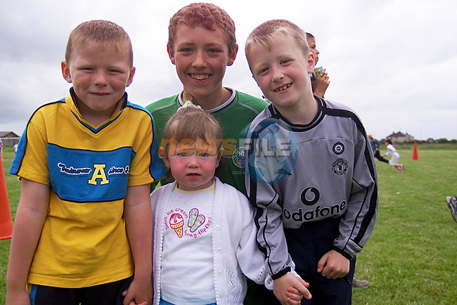 Noel Campbell,Stephen Campbell,Adam Griffin and Niamh McDonnell at The Rathmullen Sports Day...Pic Newsfile