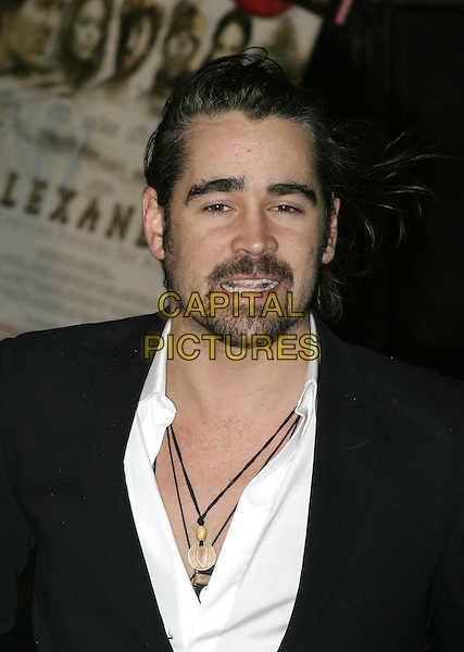 """COLIN FARRELL.UK film premiere of """"Alexander"""",.Odeon Cinema Leicester Square, London, .January 5th 2004..portrait headshot necklaces.Ref: AH.www.capitalpictures.com.sales@capitalpictures.com.©Capital Pictures."""