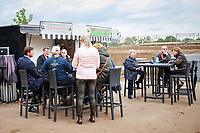 Coffee time after the First Horse Inspection. 2017 NED-Military Boekelo CCIO3* FEI Nation Cup Eventing. Wednesday 4 October. Copyright Photo: Libby Law Photography