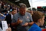Hartlepool United 0 Sunderland 3, 20/07/2016. Victoria Park, Pre Season Friendly. Sam Allardyce Manager of Sunderland signing autographs before the game. Photo by Paul Thompson.