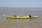 Boat Taxi Along The Ayeyarwady River