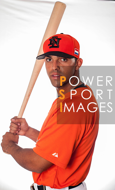 Randolph Odober of Team Netherlands poses during WBC Photo Day at the Taichung International Baseball Stadium on February 26, 2013 in Taichung, Taiwan. Photo by Victor Fraile / The Power of Sport Images