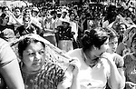 Zapotec Native women stand in line as they wait to caste their ballot during municipality elections in Juchitan, Oaxaca, November 20, 1983.  © Photo by Heriberto Rodriguez