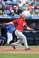 Washington Nationals first baseman Adam LaRoche (25) during a spring training game against the New York Mets on March 27, 2014 at Tradition Field in St. Lucie, Florida.  Washington defeated New York 4-0.  (Mike Janes/Four Seam Images)