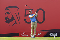 Bradley Dredge (WAL) on the 2nd during Round 3 of the Omega Dubai Desert Classic, Emirates Golf Club, Dubai,  United Arab Emirates. 26/01/2019<br /> Picture: Golffile | Thos Caffrey<br /> <br /> <br /> All photo usage must carry mandatory copyright credit (© Golffile | Thos Caffrey)