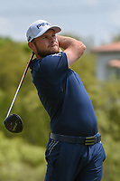 Tyrrell Hatton (ENG) watches his tee shot on 3 during day 2 of the WGC Dell Match Play, at the Austin Country Club, Austin, Texas, USA. 3/28/2019.<br /> Picture: Golffile | Ken Murray<br /> <br /> <br /> All photo usage must carry mandatory copyright credit (© Golffile | Ken Murray)