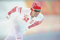 OLYMPICS: SOCHI: Adler Arena, 18-02-2014, Men's 10.000m, Yevgeny Seryayev (RUS), ©photo Martin de Jong