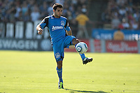 San Jose Earthquakes defender/midfielder Steven Beitashour (33) controls the ball. The San Jose Earthquakes tied the Los Angeles Galaxy 0-0 at Buck Shaw Stadium in Santa Clara, California on June 25th, 2011.
