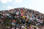 Huge crowds atop the Col du Tourmalet at the end of Stage 14 of the 2019 Tour de France running 117.5km from Tarbes to Tourmalet Bareges, France. 20th July 2019.<br /> Picture: Colin Flockton | Cyclefile<br /> All photos usage must carry mandatory copyright credit (© Cyclefile | Colin Flockton)