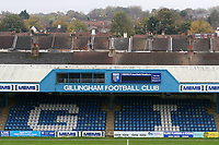 General view of the 'Gordon Road Stand' with the rooftops of the local houses in the background during Gillingham vs Bury, Sky Bet EFL League 1 Football at the MEMS Priestfield Stadium on 11th November 2017