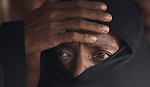 A Rohingya woman waits in line for a tarp and blankets provided by Christian Aid, a member of the ACT Alliance, in the Jamtoli Refugee Camp near Cox's Bazar, Bangladesh.<br /> <br /> More than 600,000 Rohingya have fled government-sanctioned violence in Myanmar for safety in Bangladesh.<br /> <br /> (This image is a detail of bangladesh-2017-jeffrey-refugees-A2679.)