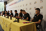 BMC Racing Team press conference before the 104th edition of the Tour de France 2017, Dusseldorf, Germany. 29th June 2017.<br /> Picture: Eoin Clarke | Cyclefile<br /> <br /> <br /> All photos usage must carry mandatory copyright credit (&copy; Cyclefile | Eoin Clarke)