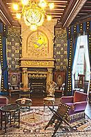 Europe/France/Aquitaine/64/Pyrénées-Atlantiques/Pays-Basque/Hendaye: Chateau d'Abbadia construit en 1870 par  Eugène Viollet-le-Duc pour Antoine d'Abbadie d'Arrast vu - Le salon d'honneur