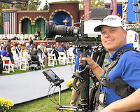 27 SEP 12  Richie and the Steadt Cam get ready to shoot during Thursdays Opening ceremonies at The 39th Ryder Cup at The Medinah Country Club in Medinah, Illinois.
