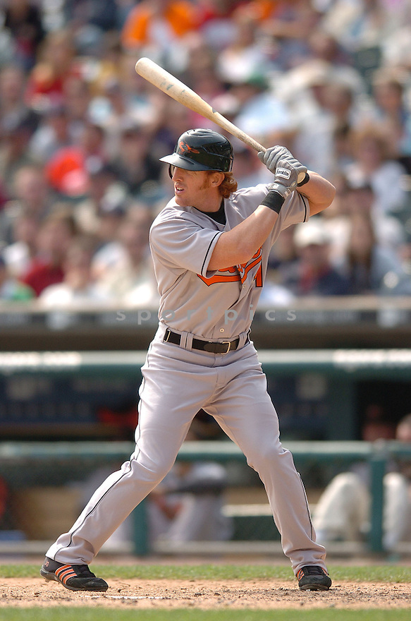JAY GIBBONS, of the Baltimore Orioles , in action during the Orioles game against the Detroit Tigers on May 2, 2007 in Detroit, Tigers...Tigers win 5-4...Chris Bernacchi/ SportPics..