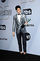 LOS ANGELES - JAN 27:  Darren Criss at the 25th Annual Screen Actors Guild Awards at the Shrine Auditorium on January 27, 2019 in Los Angeles, CA
