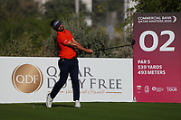Antoine Rozner (FRA) on the 2nd during Round 1 of the Commercial Bank Qatar Masters 2020 at the Education City Golf Club, Doha, Qatar . 05/03/2020<br /> Picture: Golffile | Thos Caffrey<br /> <br /> <br /> All photo usage must carry mandatory copyright credit (© Golffile | Thos Caffrey)