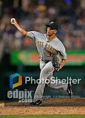 17 May 2012: Pittsburgh Pirates pitcher Juan Cruz on the mound against the Washington Nationals at Nationals Park in Washington, DC. The Pirates defeated the Nationals 5-3 in the second game of their 2-game series. Mandatory Credit: Ed Wolfstein Photo