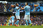 Raheem Sterling of Manchester City celebrates his goal - Barclay's Premier League - Manchester City vs Aston Villa - Etihad Stadium - Manchester - 05/03/2016 Pic Philip Oldham/SportImage