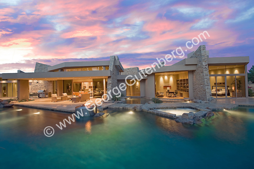 Stock image of residential swimming pool
